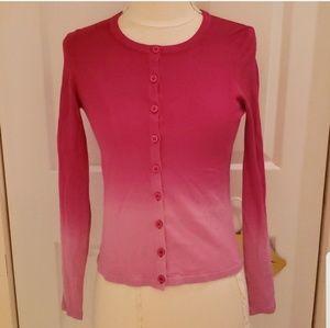 DVF Diane Von Furstenberg Pink Ombre Cardigan